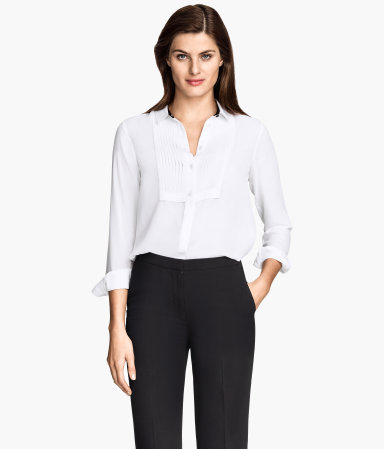 Blouse With Pin-Tucks by H&M, £17.49